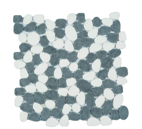Bati Orient- PIMI26 Reconstituted Black/White Round Pebble
