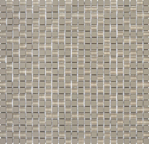 "VEMA13- Brown Matte & Shiny Glass Mosaic 5/16""x5/16"""
