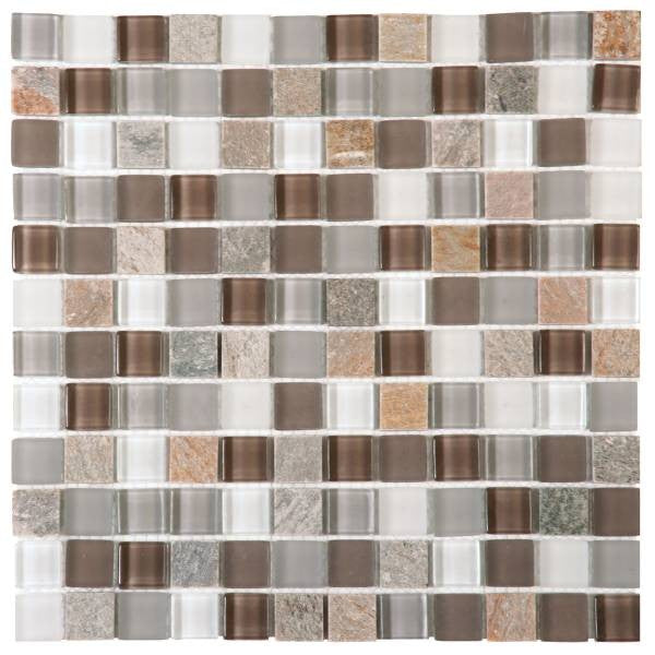 VEMI109 Beige Mix Quartzite Glass 7/8