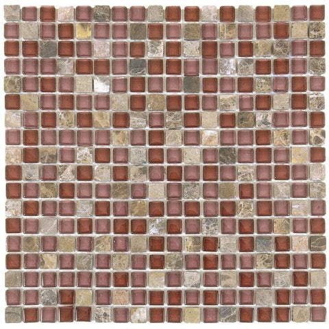 "VEMI80 Brown Marble/Brown Glossy Glass 5/8""x5/8"""