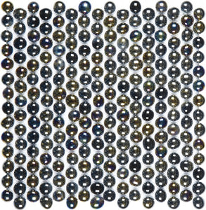 Bati Orient- VENO36 Mix Glass Black Penny Round