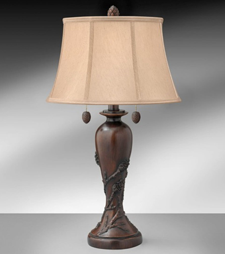 Chesterton Resin Table Lamp with Pine Cone Pulls 10195WTF