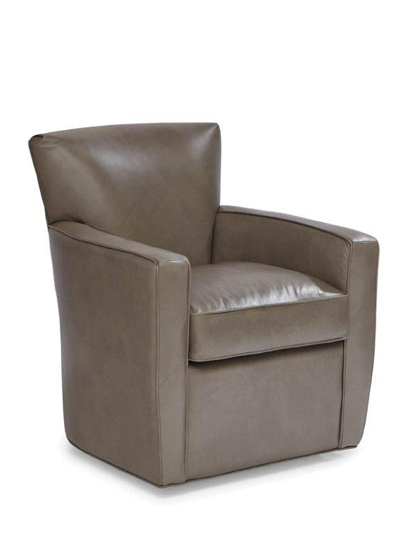 Palatial Leather Monica Swivel Chair