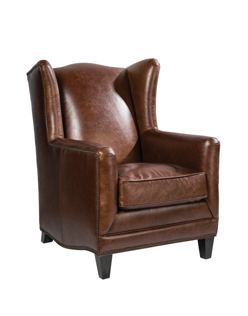 Palatial Leather Atwood Accent Chair