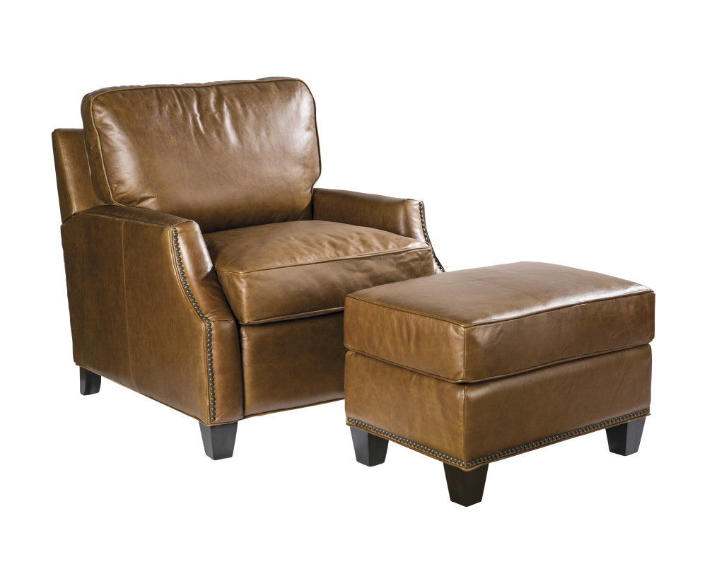 Palatial Leather Anderson Suite Chair and Ottoman