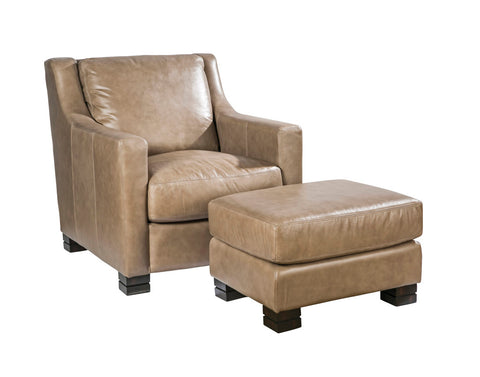 Palatial Leather Colby Suite Chair and Ottoman 151003