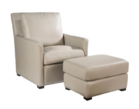 Palatial Leather Charlotte Chair and Ottoman 151203