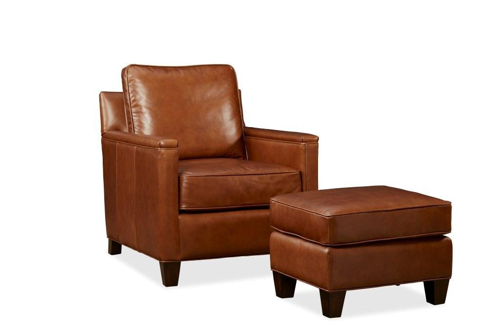 Palatial Leather Alexander Suite Chair and Ottoman 152103