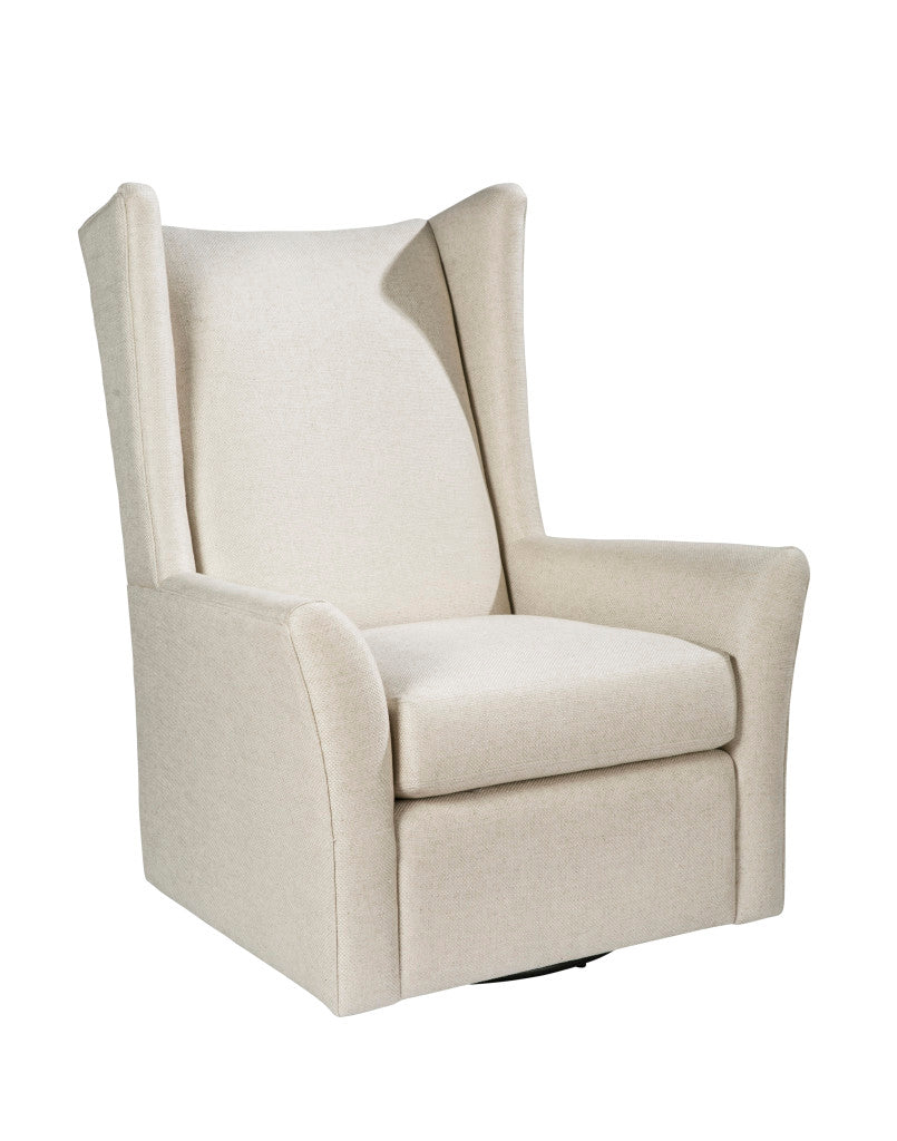 Palatial Leather Kent Linen Flax Swivel Chair 15313-S