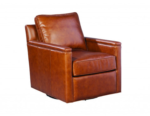Palatial Leather Alexandria Swivel Chair 16173-S