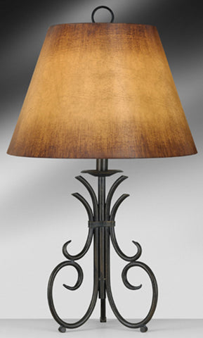 Rustic Mission Antique Brass Table Lamp 317AFL