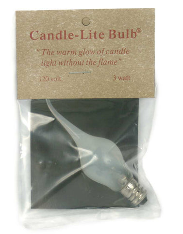 3 Watt Large Candle-Lite Light Bulb