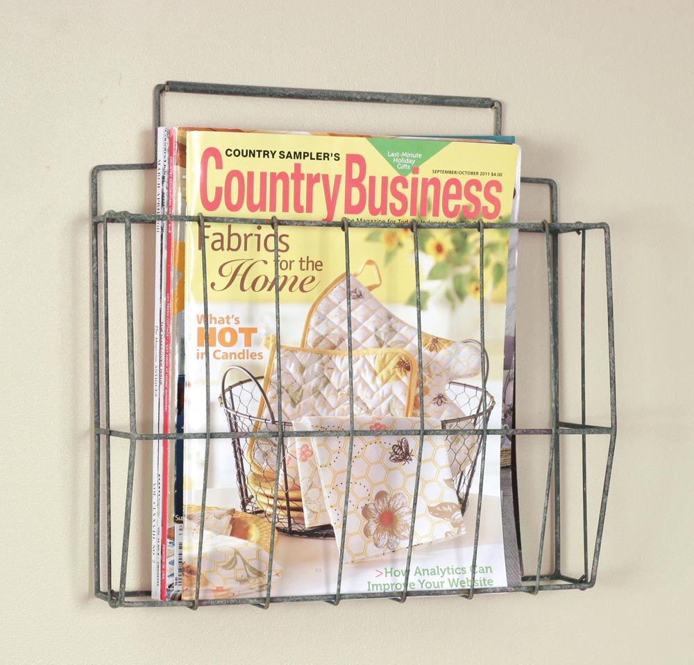 Wire Wall Mounted File Holder - Barn Roof Finish TN 370026T