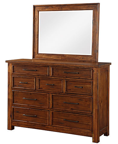 Mastercraft Cochrane Smokey Mountain Lodge 9 Drawer Dresser w/ Mirror 3749-DC