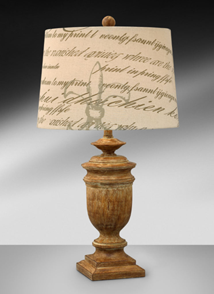 Casual Washed Wood Resin Table Lamp 412THFS