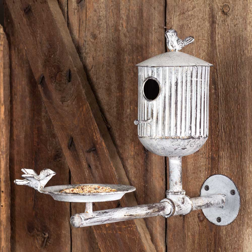 Rooks Roost Bird Feeder and Birdhouse