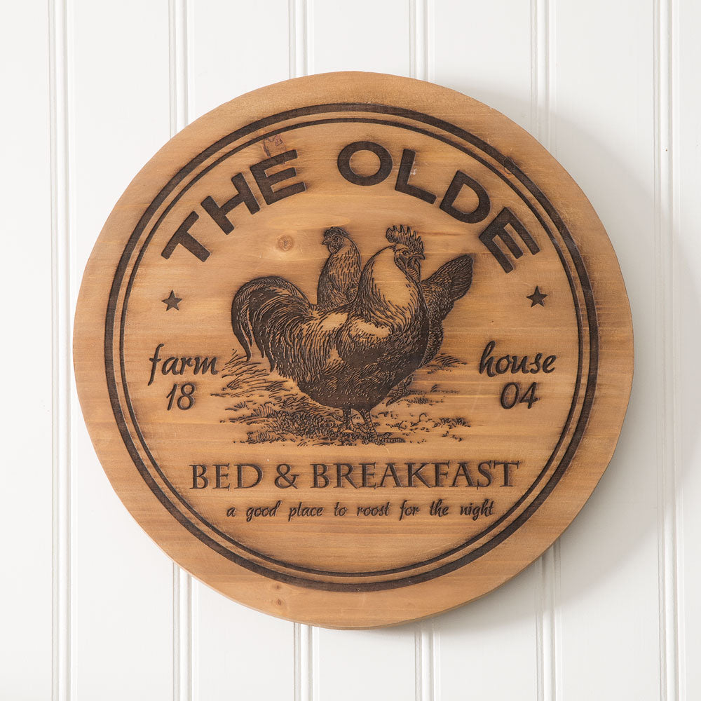 """The Olde"" Wood Lazy Susan"