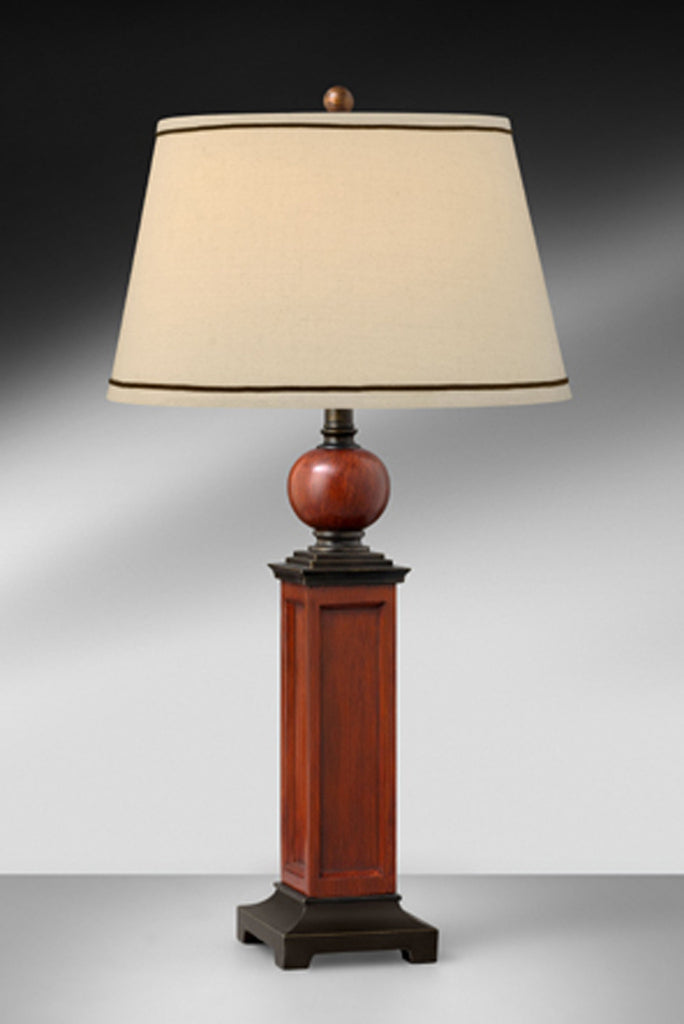 Medium Oak and Bronze Resin Table Lamp 436LHBT