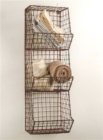 Industrial Style Small General Store Wire Ware Wall Bin