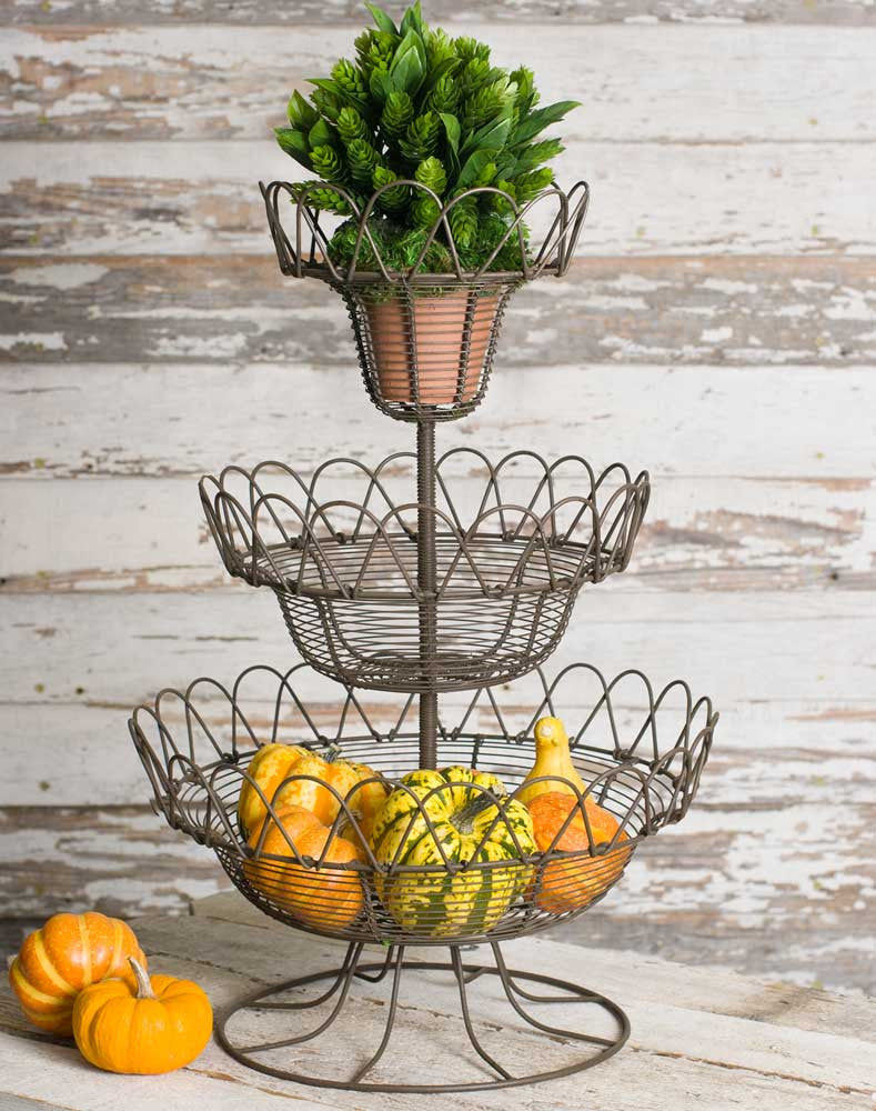 Three-Tier Wire Ware Basket Display TN 460192