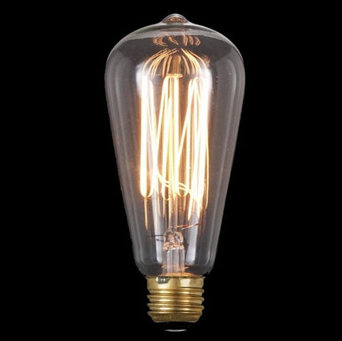 Vintage Style NEW Edison Base Squirrel Cage Filament Light Bulb 60 Watts