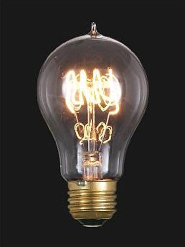 Vintage Style NEW Edison Base Quad Loop Filament Light Bulb 60 Watts