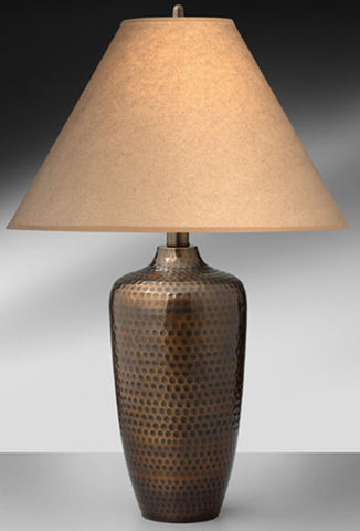 Casual Hammered Bronze Steel Table Lamp 485TPH