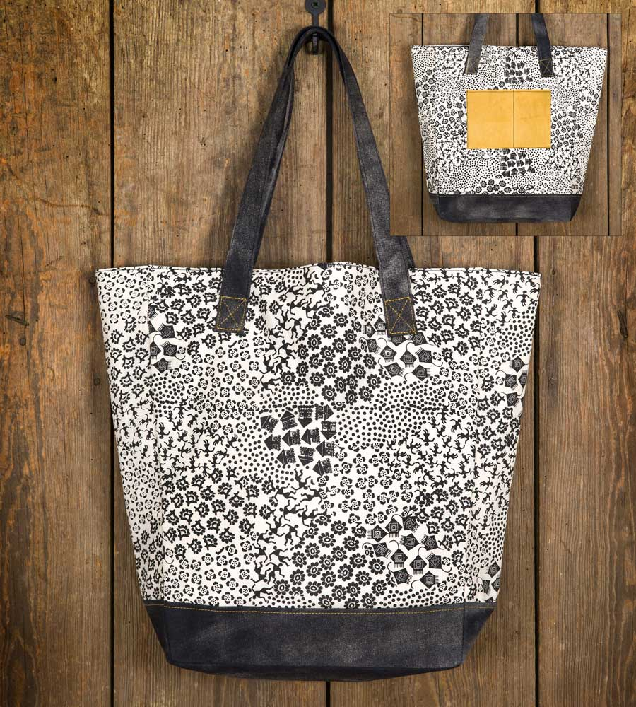 Mesa Black and White Market Bag