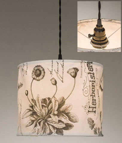 Botanical Prints Canvas Pendant Lamp TN510201