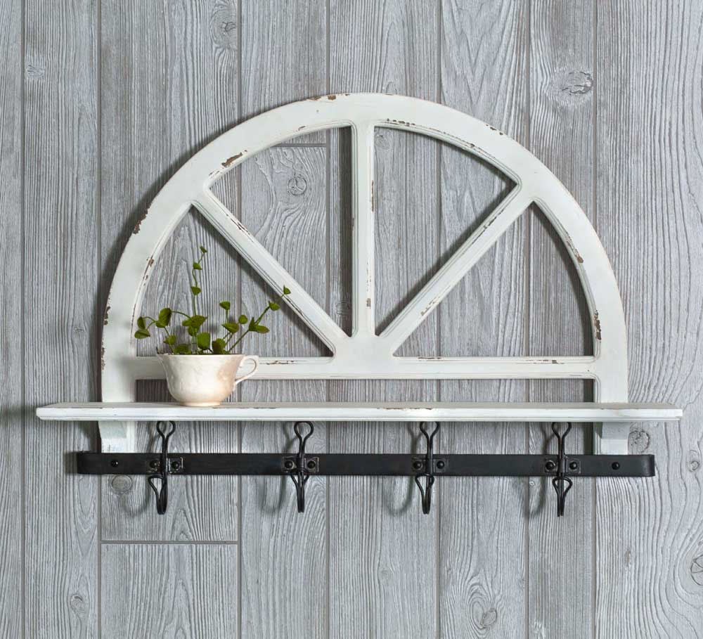 Parkers Prairie Wall Shelf with Hooks