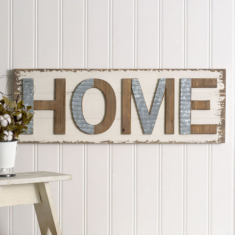 """Home"" Wall Sign"
