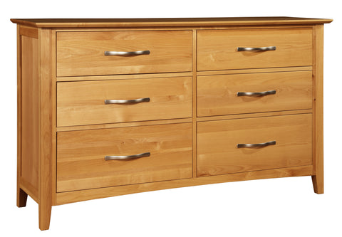 Mastercraft Cochrane Contempo 6 Drawer Dresser With Landscape Mirror 5307-D