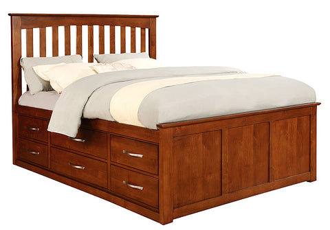 Mastercraft Cochrane Contempo II Eastern King Slat Bed 6 Storage Drawers 5404-EK 3-1/3-2