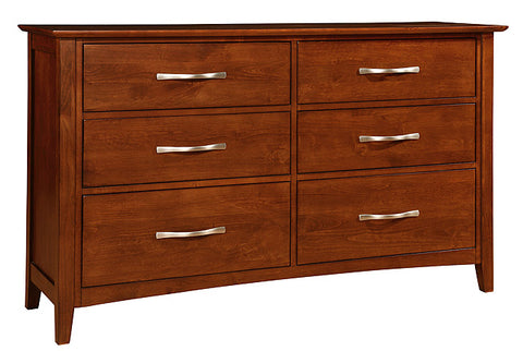 Mastercraft Cochrane Contempo II 6 Drawer Dresser With Landscape Mirror 5407-D