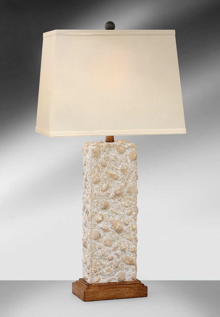 Light Coastal Shells Tropical Table Lamp 618RLH