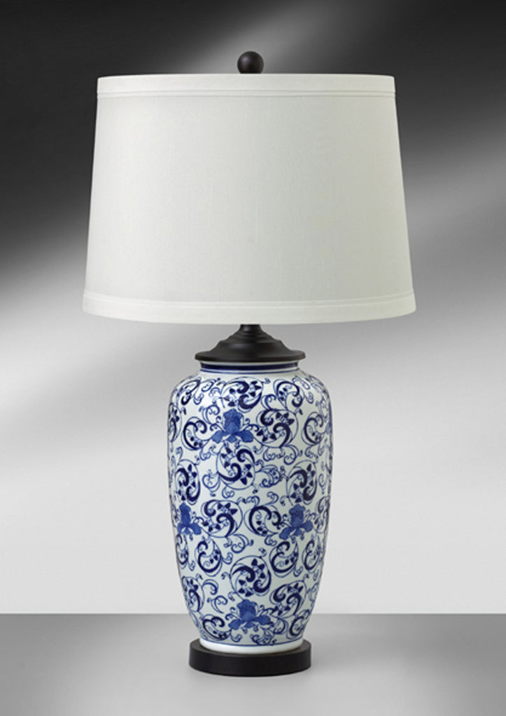 Deft Blue Ceramic Steel Table Lamp 689DWW