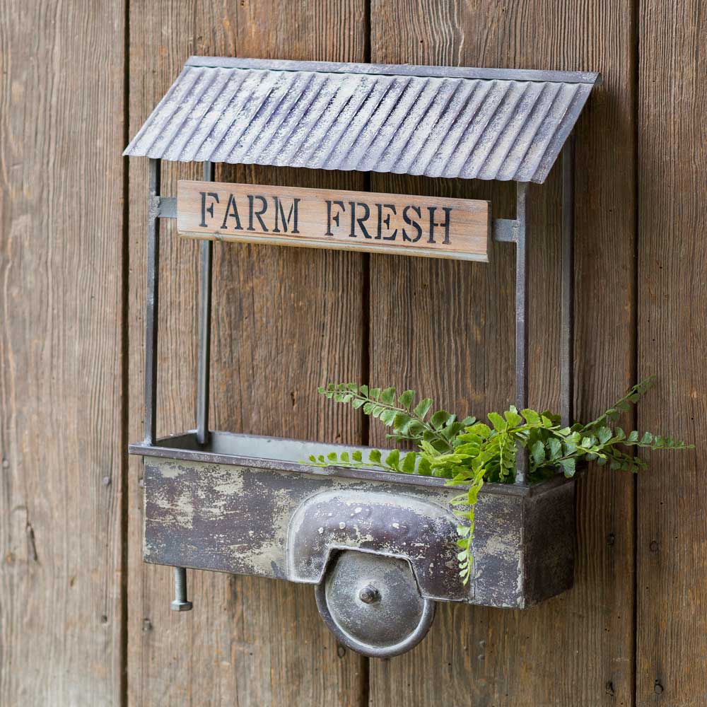 Farm Fresh Truck Bed Wall Planter