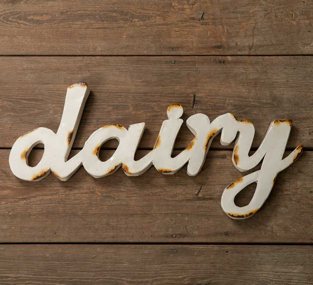 """dairy"" Wall Sign"
