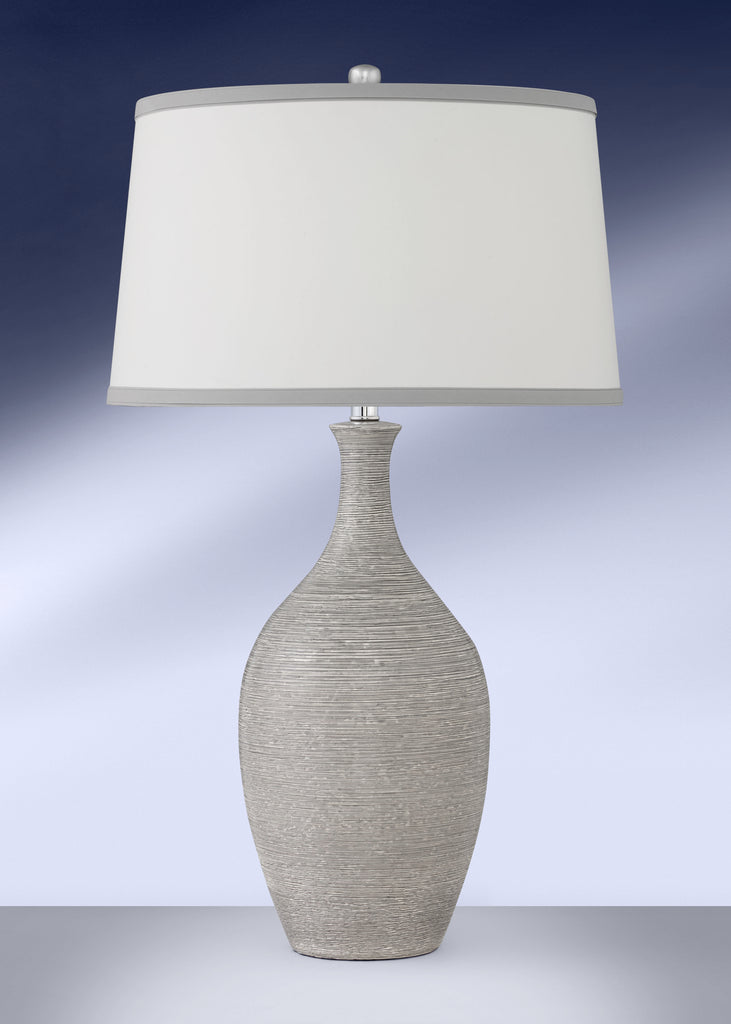 Contemporary Spun Grey Ceramic Table Lamp 799DWHG