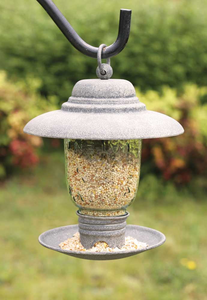 Midget Mason Jar Bird Feeder - Barn Roof