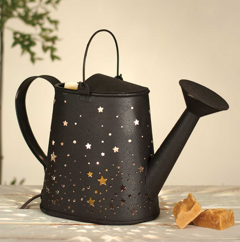 Stars Watering Can Wax Warmer - Rustic Brown