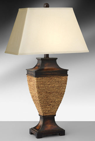 Rope And Wood Resin Casual Table Lamp 834RLH