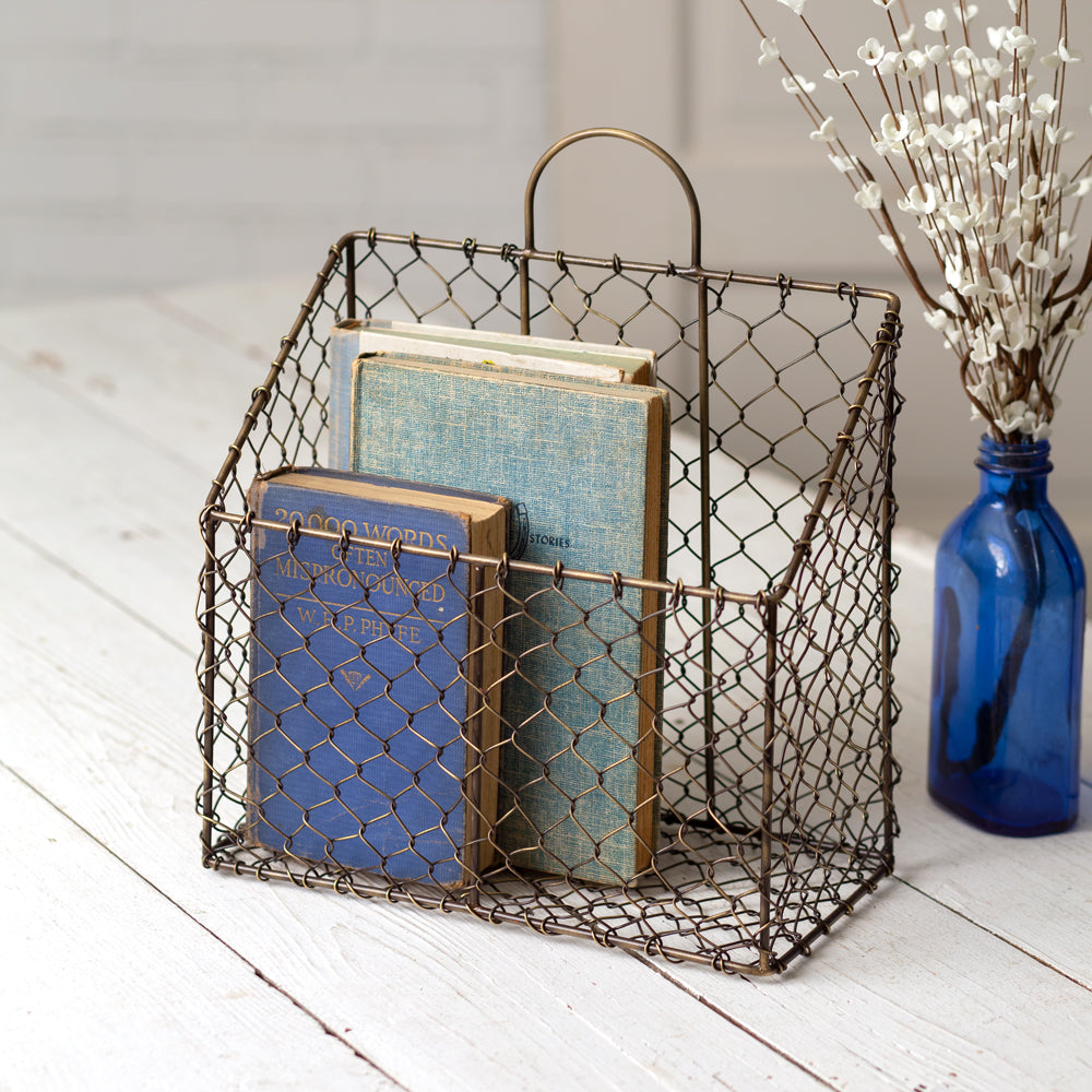 Chicken Wire Magazine Basket