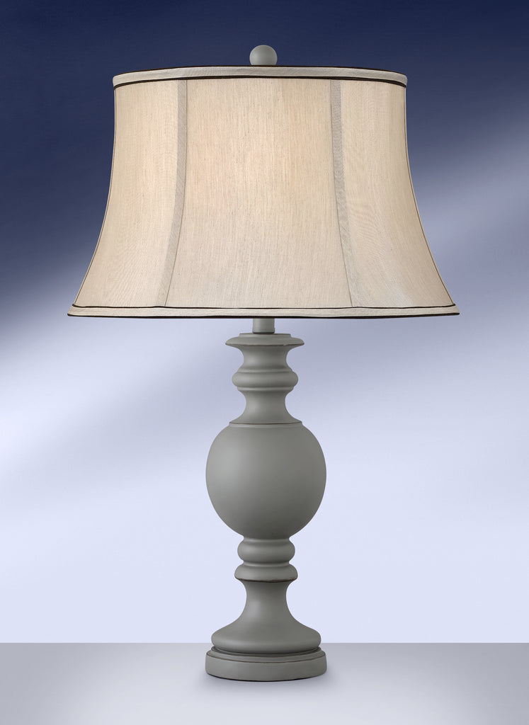Contemporary Matte Grey Table Lamp 847GDB