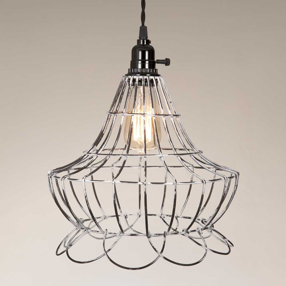 Wire Scallop Bell Pendant Lamp