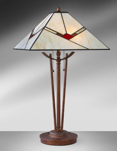 Mission Arts and Crafts Antique Bronze Resin Steel Table Lamp 951LMTA