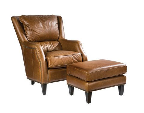 Palatial Leather Scottsdale Accent Chair and Ottoman 953/954