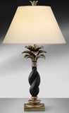 Bronze Washed Silver Fern Leaf Resin Table Lamp 975EB