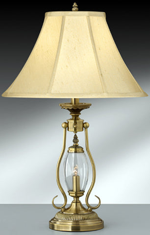 Finished Satin Brass Table Lamp with Night Light A789SB