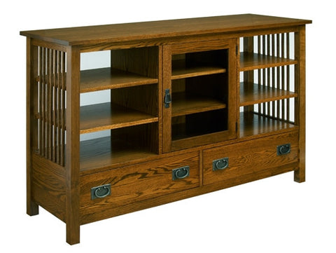 A. A. Laun Workbench Classics Entertainment Console, 2 Drawers, 1 Door And 6 Adjustable Shelves 2659